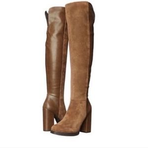Sam Edelman Howell Platform OTK Boots Brown 10
